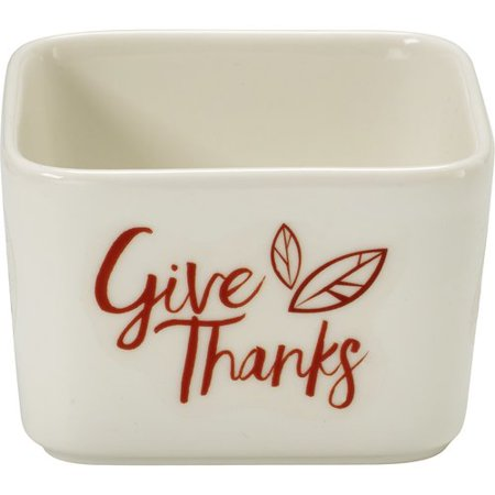 Celebrations by Precious Moments 171532 7 oz Give Thanks Fall Harvest Porcelain Appetizer and Dip Serving Bowl -