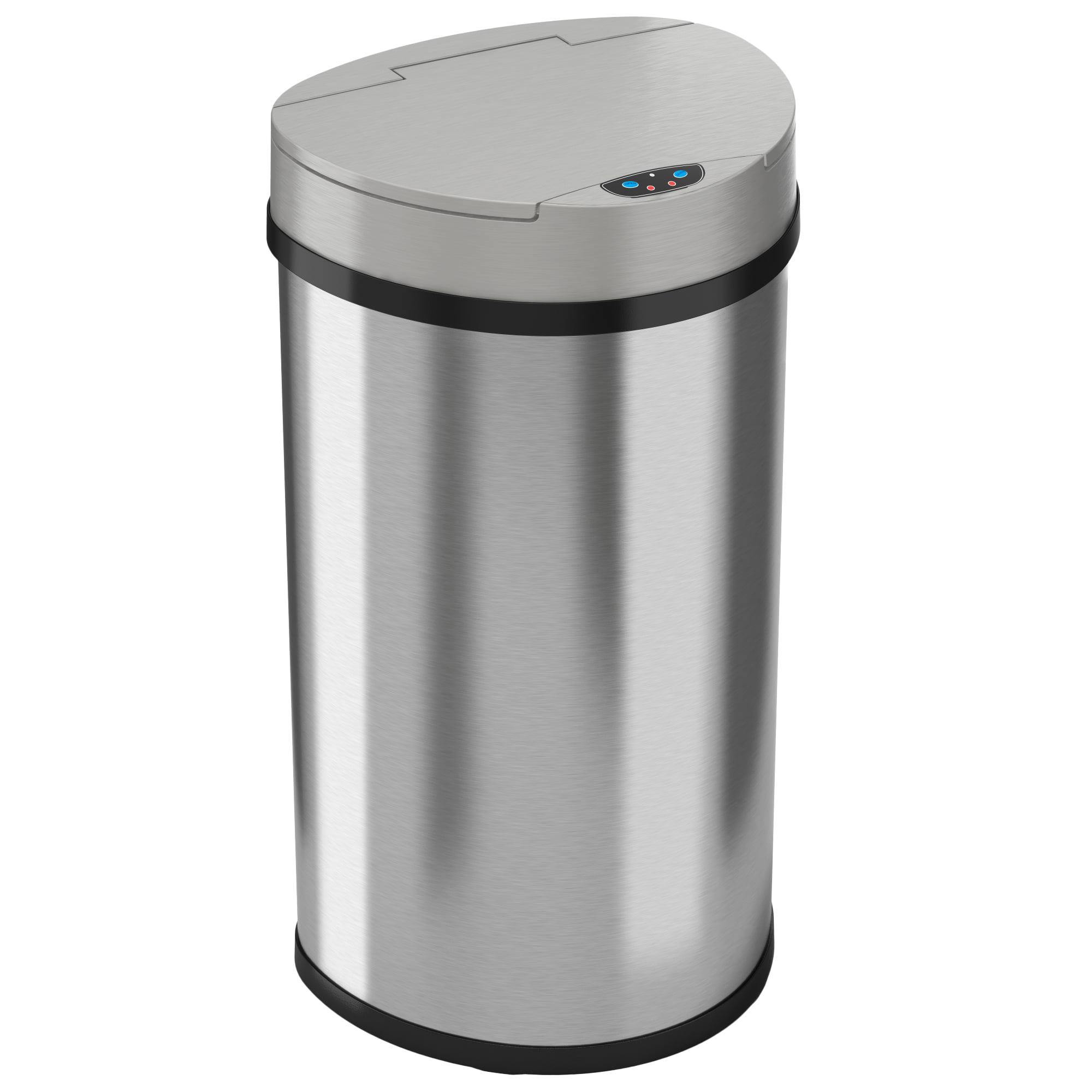Itouchless 13 Gallon Semi Round Automatic Sensor Trash Can