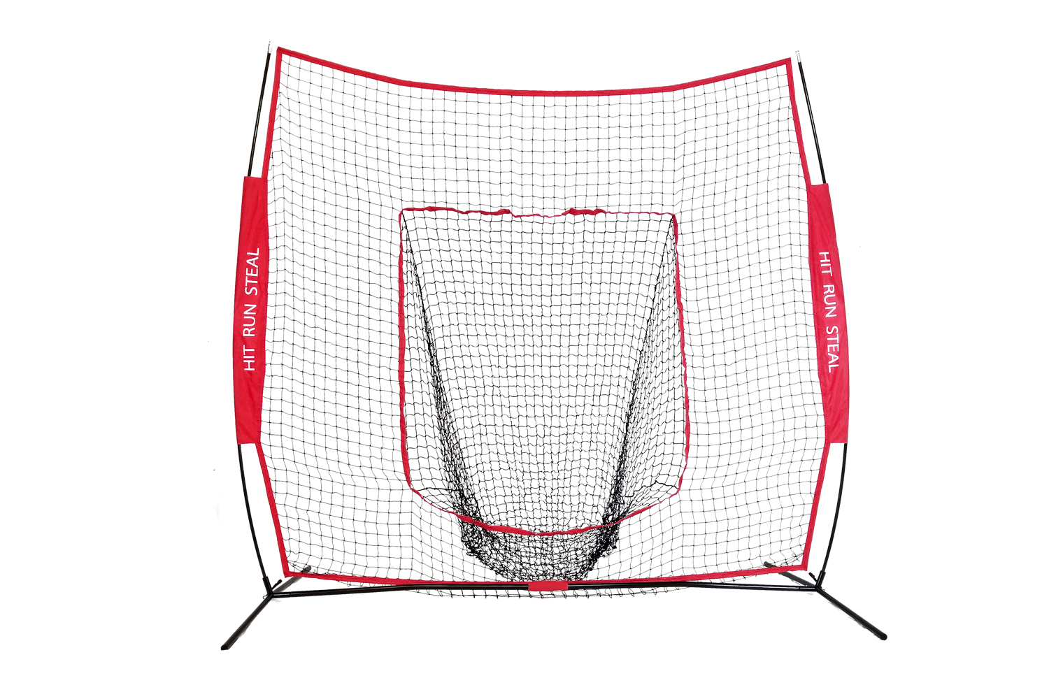 Sport Nets Baseball Softball Hitting and practice net- 7x7ft baseball pitching net, Large Mouth Net with Bow Frame... by Sport Nets