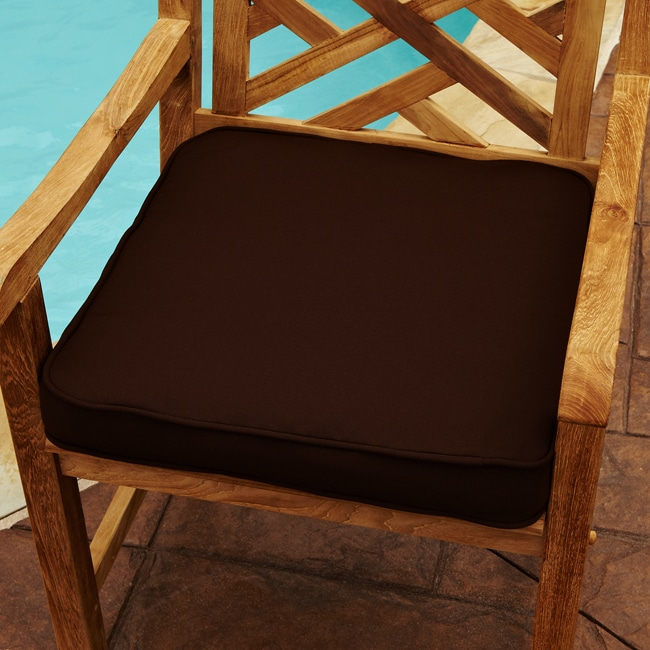 Mozaic Company Clara Brown 19-inch Square Indoor/ Outdoor Sunbrella Chair Cushion