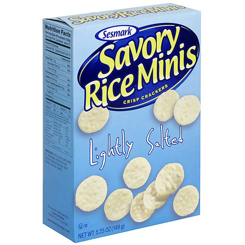 Sesmark Mini Lightly Salted Rice Crackers, 5.25 oz (Pack of 6)