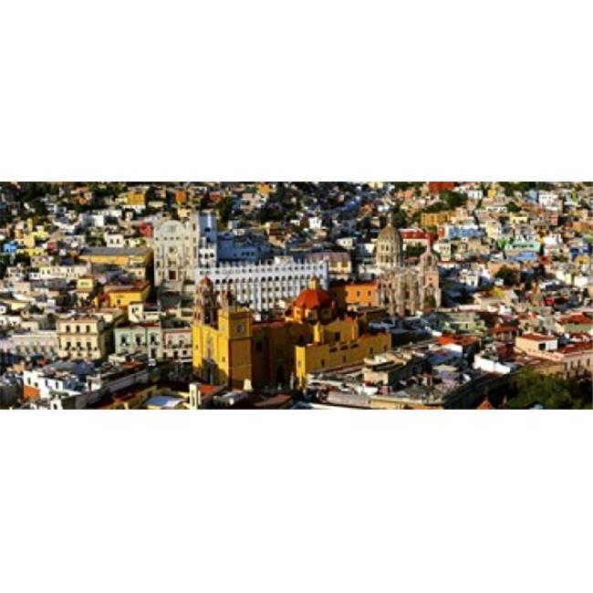 High angle view of a city  Basilica of Our Lady of Guanajuato  University of Guanajuato  Guanajuato  Mexico Poster Print by  - 36 x 12 - image 1 de 1