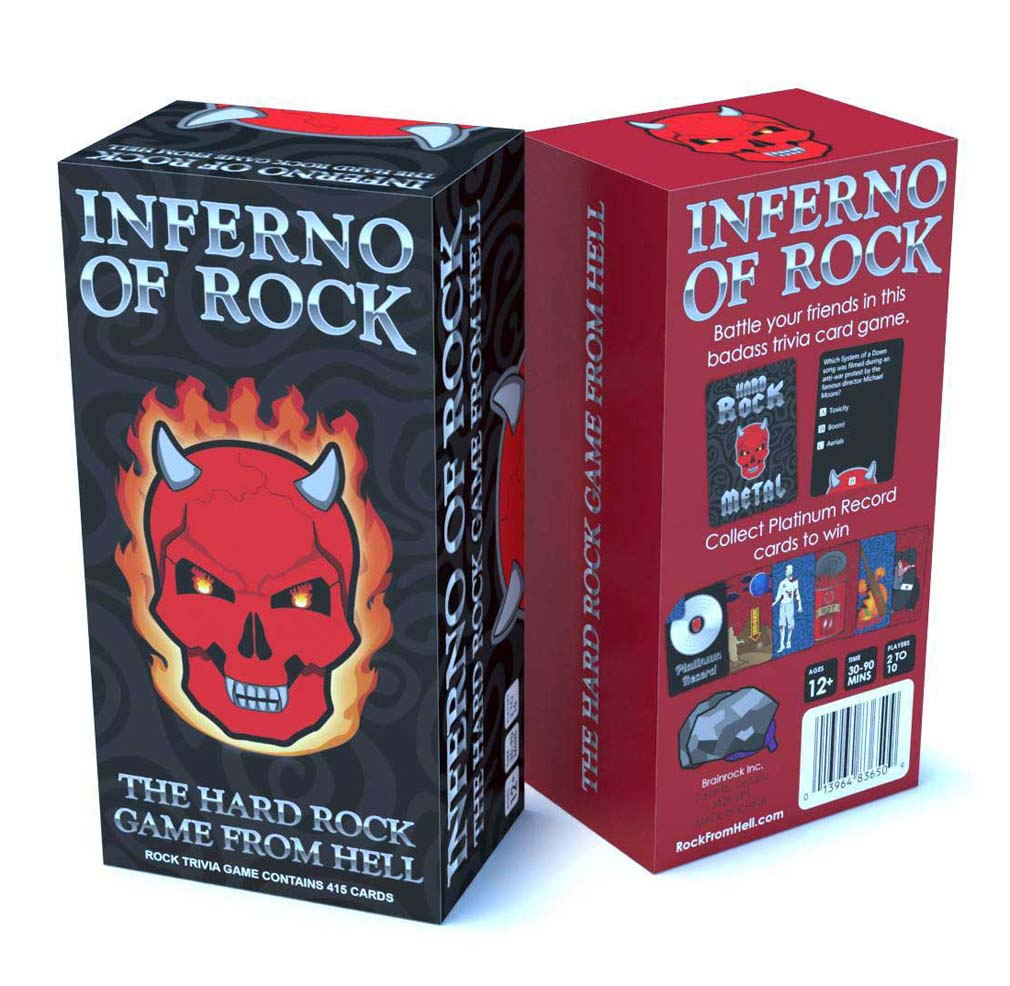 Inferno of Rock Heavy Metal Trivia Game by