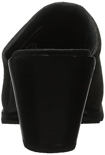 Woolrich Women's Miss Lucy Mule, Black Crackle Leather, 6 M US