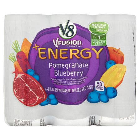 V8 V Fusion  Energy Pomegranate Blueberry Flavored Juice 8Oz 6 Pack