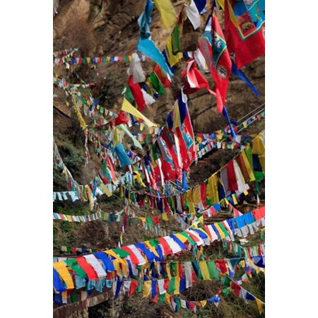Prayer Flags Thimphu Bhutan Canvas Art - Kymri Wilt DanitaDelimont (25 x 38)