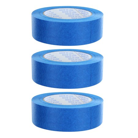 3 -pack Rugged Blue M187 Painters Tape 1.5in x 60yd - 21 Day Clean