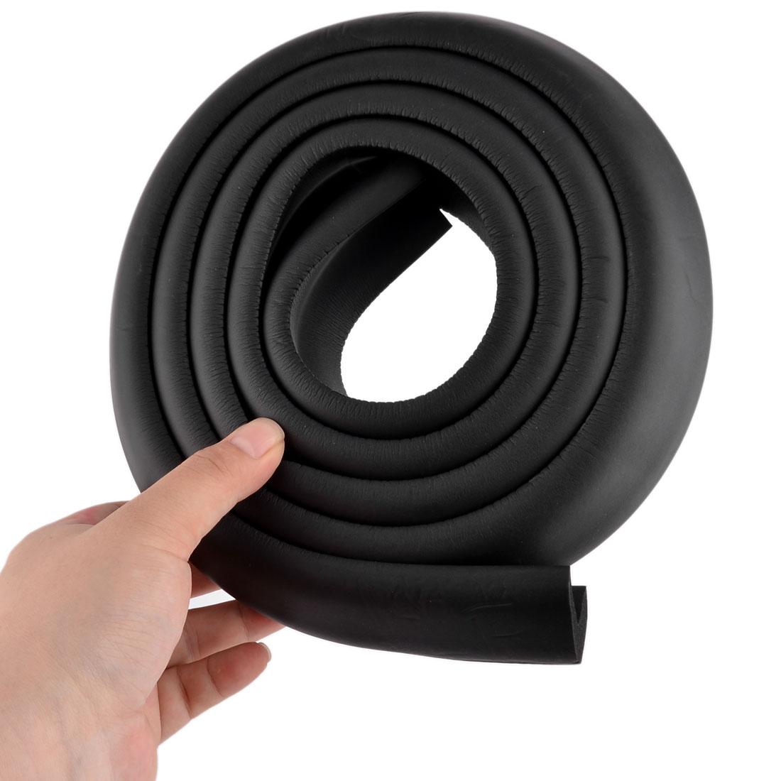Furniture Dresser Foam Rubber Corner Edge Cover Protector Cushion Black 2pcs - image 3 de 5
