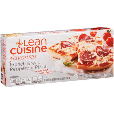 Lean cuisine favorites pepperoni french bread pizza 6 oz for Are lean cuisine pizzas healthy
