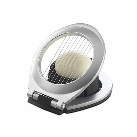Amco Compact 3 In 1 Chrome Plated Egg Slicer, Dishwasher