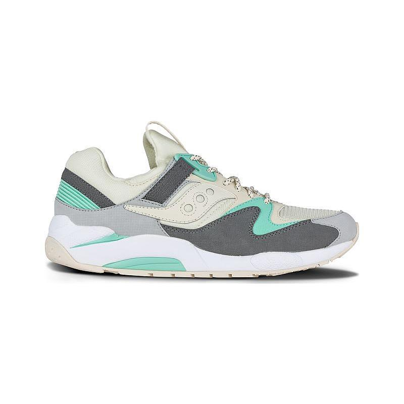 Mens Saucony Grid 9000 Light Tan Charcoal Mint S70077-53 by