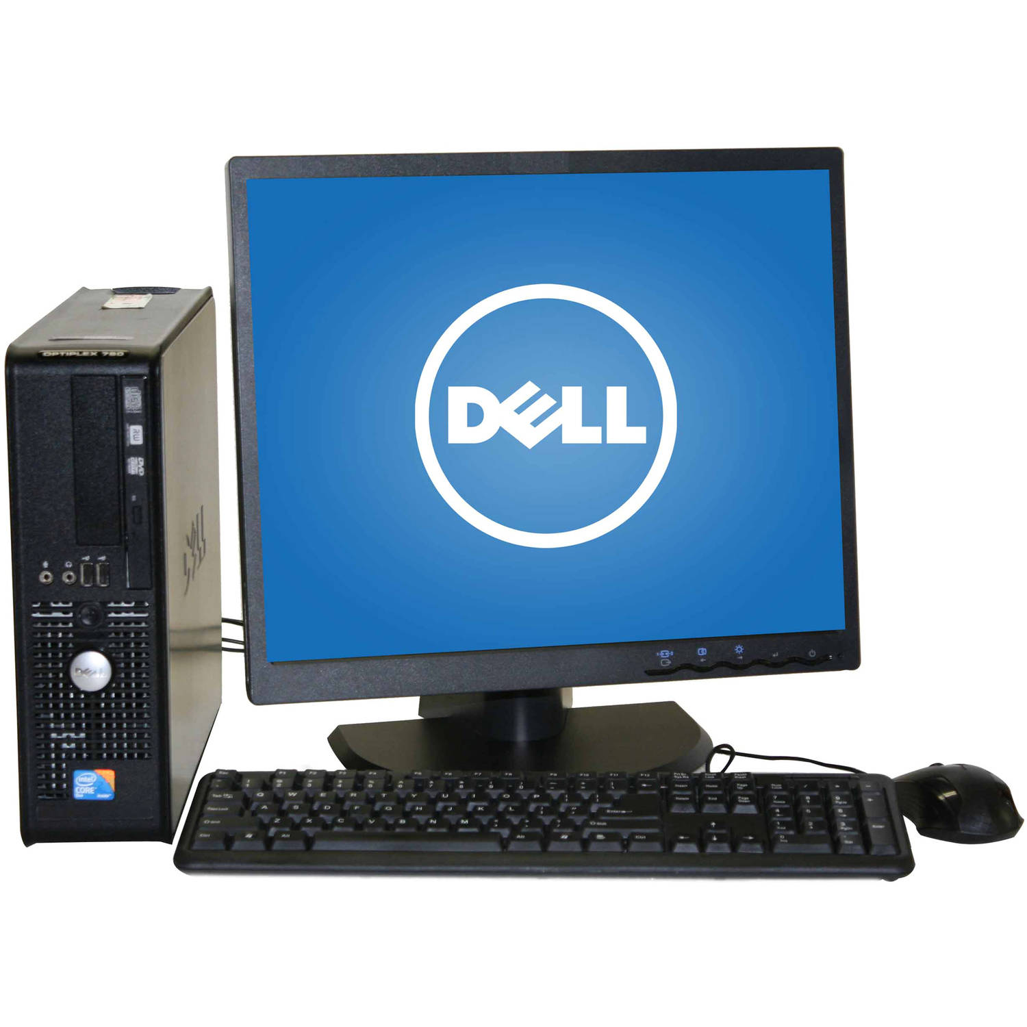"Refurbished Dell 780 SFF Desktop PC with Intel Core 2 Duo E8400 Processor, 4GB Memory, 19"" LCD Monitor, 250GB Hard Drive and Windows 10 Home"