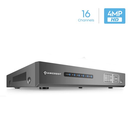 Amcrest 4MP HD-Analog 16CH Video Security DVR Digital Recorder, UltraHD 8-Channel 4 Megapixel, HD Analog, Hard Drive & Cameras NOT Included, Remote Smartphone Access, Security Camera System (AMDV4M16)
