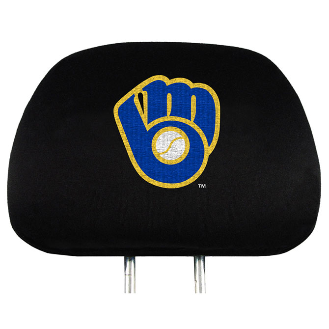 MLB Milwaukee Brewers Headrest Covers
