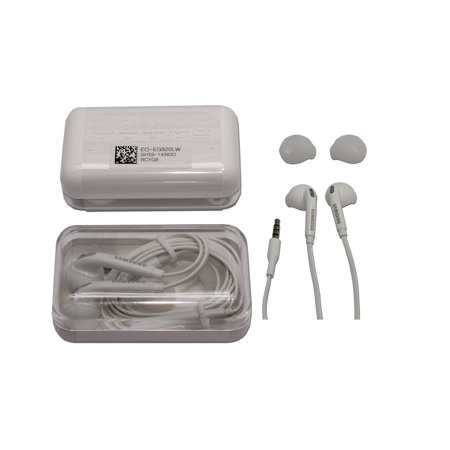 Original Samsung Wired 3.5mm Headset EO-EG920LW for Samsung Galaxy Note 4 5 S6 S6 Edge S7 S7 Edge in Jewel case.