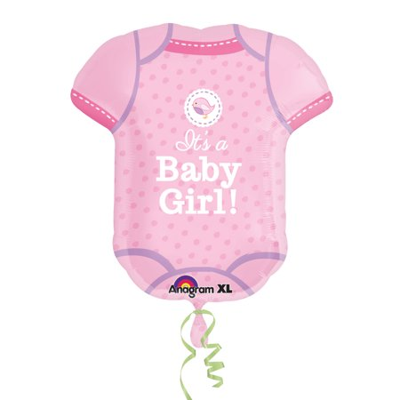 Shower with Love Girl Onesie Balloon (Each) - Baby Shower Party - Party Supplies Baby Shower