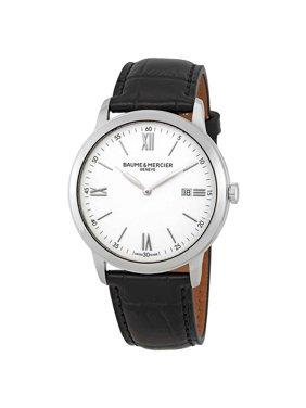 Baume & Mercier Classima White Dial Mens Watch 10414