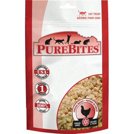PureBites Chicken Breast Cat Treats, 0.60-Ounce Multi-Colored