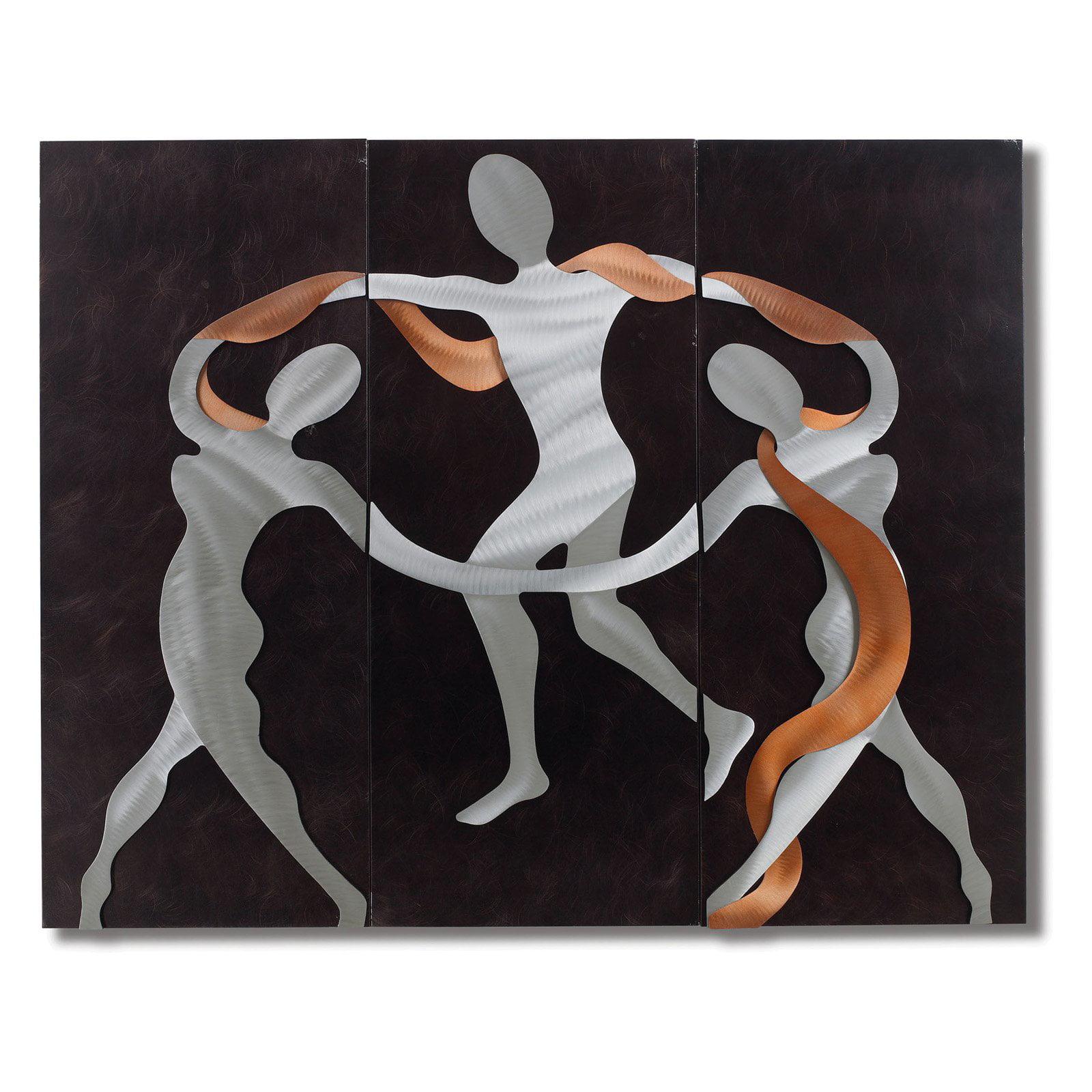 Nova Scarf Dance Metal Wall Art - 54W x 42H in.
