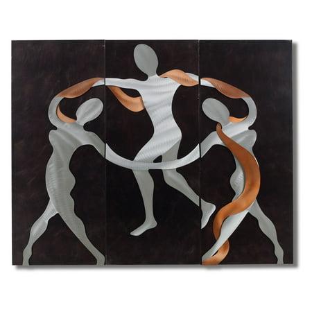 Nova Scarf Dance Metal Wall Art 54w X 42h In
