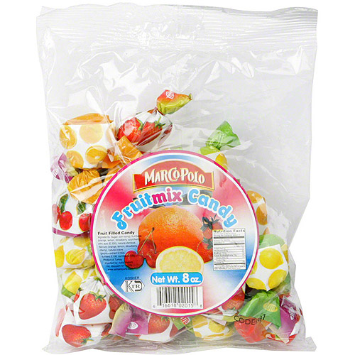 Marco Polo Fruitmix Candy, 7 oz, (Pack of 24)