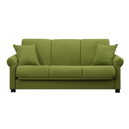 Handy Living Rio Convert A Couch Apple Green Linen Futon Sofa Sleeper