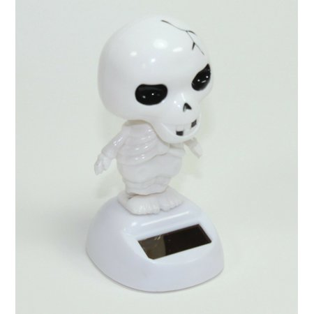 Halloween Skeleton Head Drawing (Halloween SKELETON Solar Powered Bobbled Head Toy Little Scary Funny Decoration)