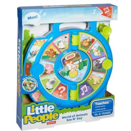 Fisher-Price Little People World of Animals See 'n Say, With two pages of animals, kids will discover a variety of new friends in the animal kingdom By - Party City Fishers In