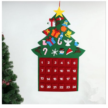Felt Christmas Tree Diy Christmas Tree With 26pcs Detachable Ornaments Wall Hanging Xmas Gifts Decorations For Kids B Walmart Canada