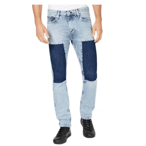 denim jean men : Calvin Klein Mens Tash Slim Fit Jeans