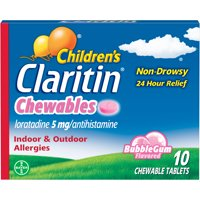 Children's Claritin 24 Hour Allergy Bubblegum Chewable Tablet, 10Ct