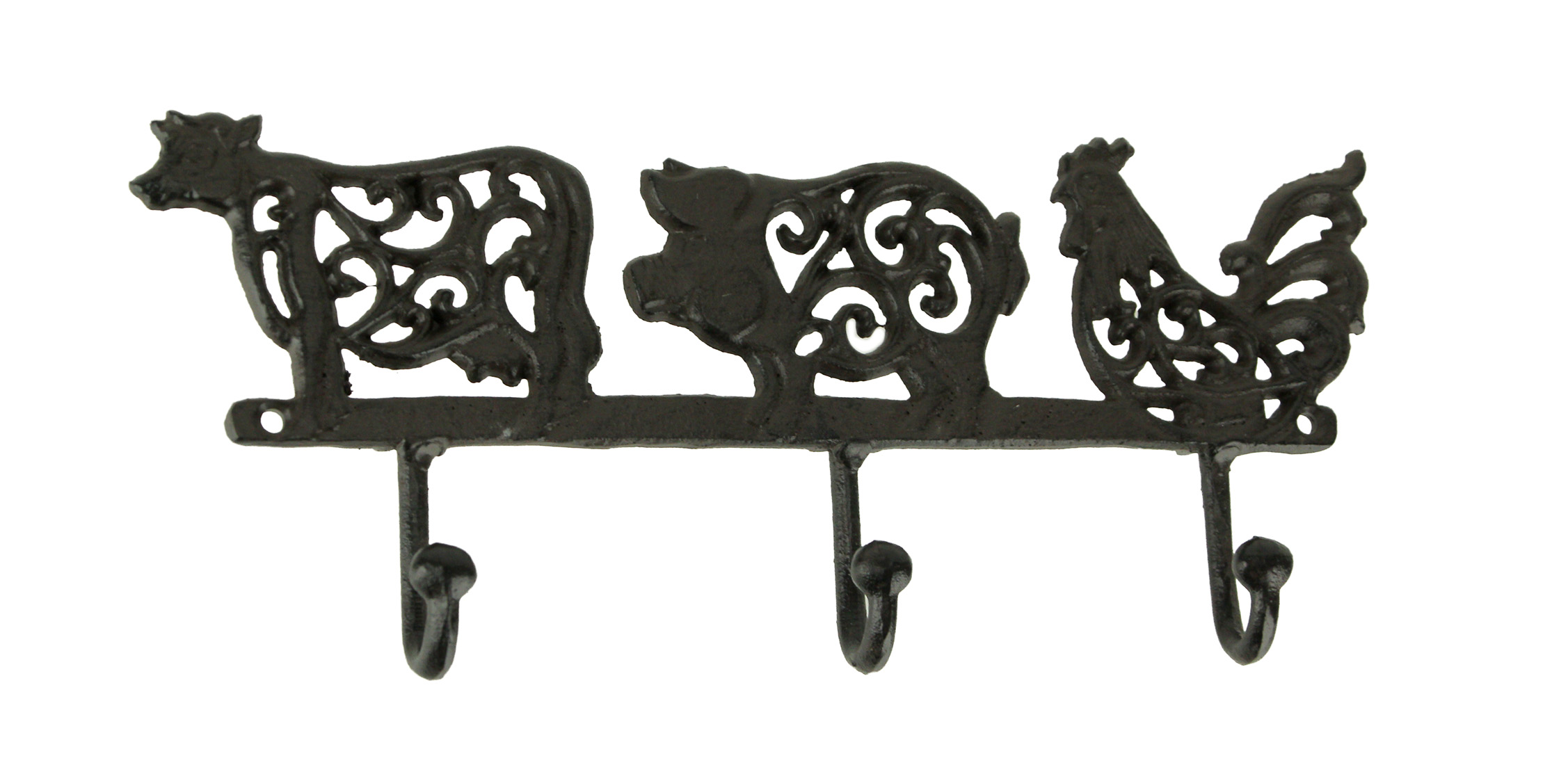 Wall Mounted Rooster Cast Iron Rustic Towel Coat Hanger Hook