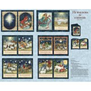 "Springs Creative Christmas Nativity Softbook, Multi-Colored, 43/44"" Wide, Fabric By the Yard"