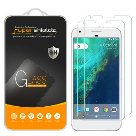 [2-Pack] Supershieldz for Google Pixel XL Tempered Glass Screen Protector, Anti-Scratch, Anti-Fingerprint, Bubble (Best Pixel Xl Glass Screen Protector)