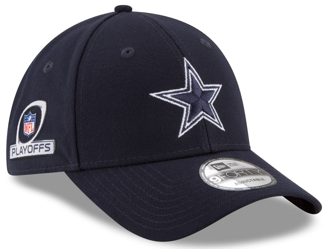 Dallas Cowboys New Era 9Forty NFL The League Playoff Patch Adjustable Hat - Navy