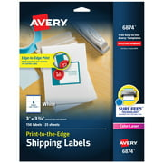 "Avery Shipping Labels, Sure Feed, 3"" x 3-3/4"", 150 Labels (6874)"