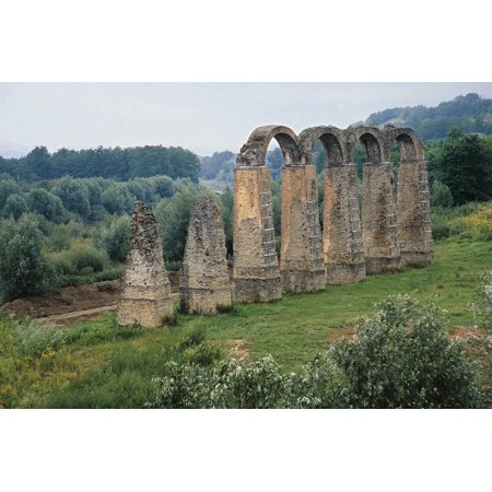 Four Arches of Roman Aqueduct in Acqui Terme, Piedmont, Italy Print Wall Art