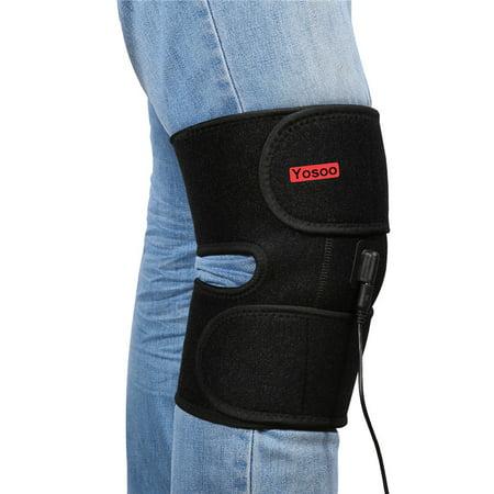 Adjustable Heated Pad Heat Therapy Knee Wrap Brace, Relief Muscle Strain,Arthritis, Bone Hyperplasia and