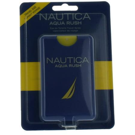 Nautica Aqua Rush by Nautica for Men Mini EDT Cologne Spray 0.67 oz. New in -