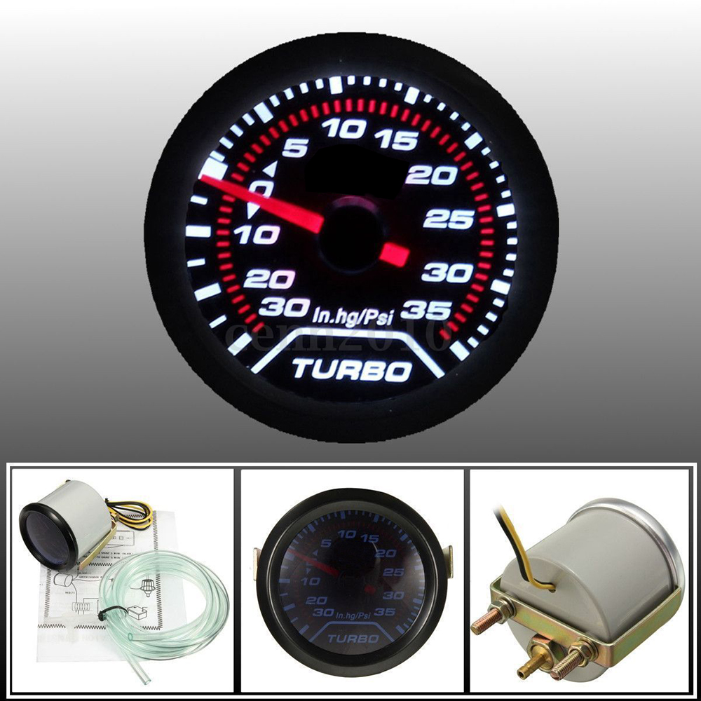 2� 52mm Car Truck LED Turbo Boost Vacuum Press Pressure Gauge Meter PSI by