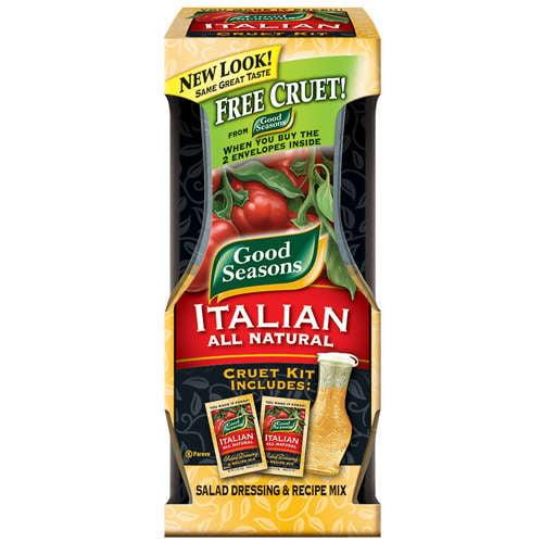 Kraft: Italian All Natural Salad Dressing & Recipe Mix/Cruet Kit Good Seasons, 1.40 oz