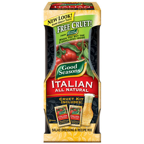 Kraft: Italian All Natural Salad Dressing & Recipe Mix/Cruet Kit Good Seasons, 1.40 oz