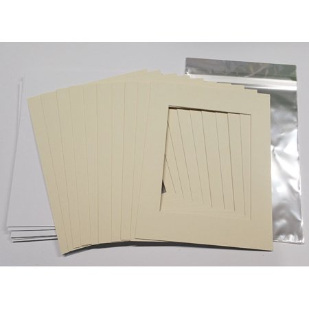 16x16 White Picture Mats with White Core for 8x8 Pictures - Fits ...