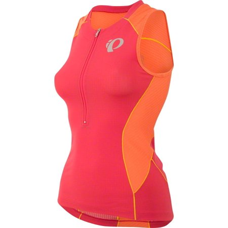 Pearl Izumi Elite Pursuit Women's Tri Sleeveless Jersey: Rouge Red/Clementine