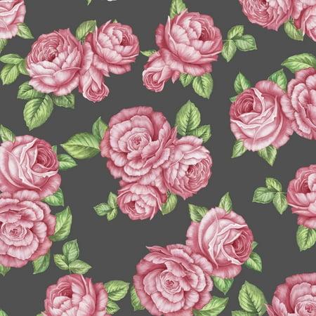 """David Textiles Bohemian Roses 44"""" Cotton Fabric"""