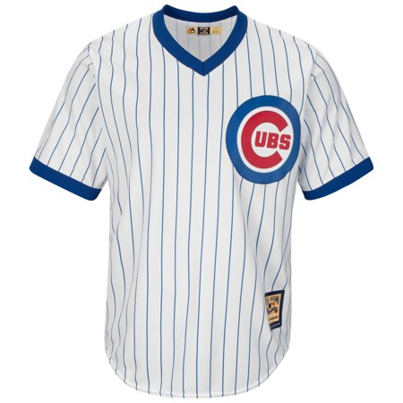 Ernie Banks Chicago Cubs Cooperstown Cool Base Replica Pinstripe Jersey by