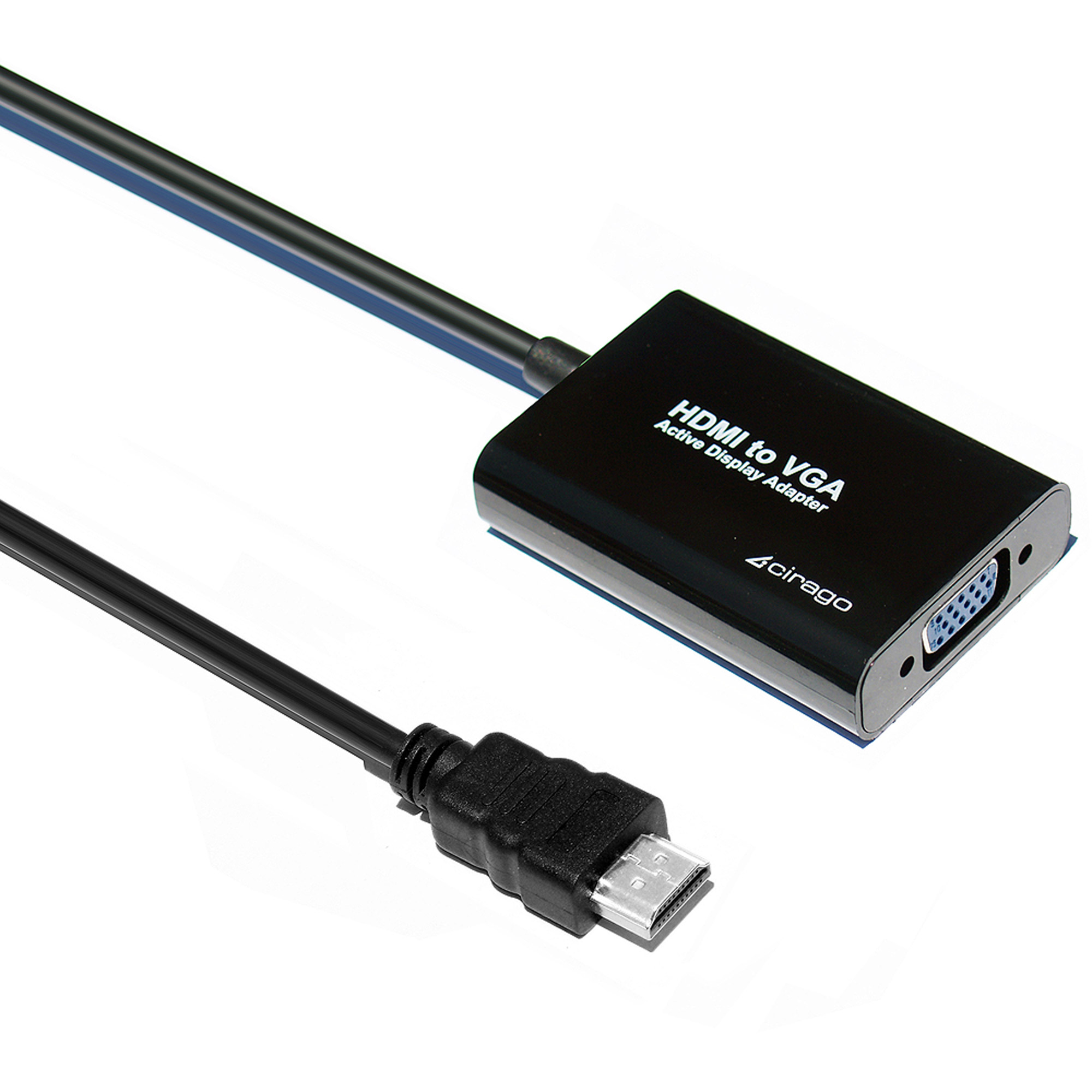 Cirago HDMVGA HDMI to VGA Display Adapter, Black