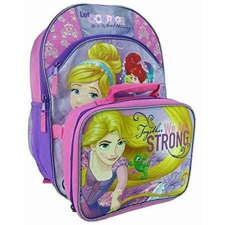 "Disney Princess 16"" Backpack with Lunch Bag Set"
