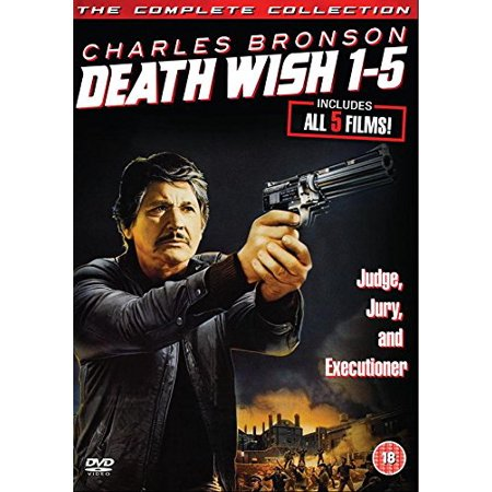 Pal Format - Death Wish 1-5 (Complete Collection) - 5-DVD Box Set ( Death Wish / Death Wish II / Death Wish III / Death Wish IV: The Crackdown / Death Wish V: [ NON-USA FORMAT, PAL, Reg.2 Import - United Kingdom ]
