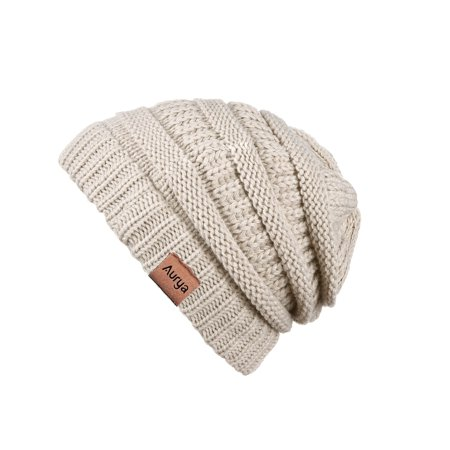 68bb9da0b Winter Cable Knit Beanie Hat Infinity Scarf Set,Thick Warm Skull Cap Hat  Men Women by AURYA